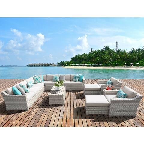 Fairmont 13 Piece Outdoor Wicker Patio Furniture Set 13a