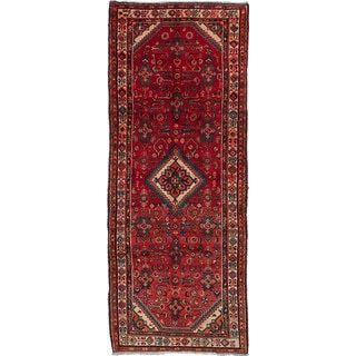 eCarpetGallery Hand-knotted Persian Vintage Red Wool Rug (3'9 x 9'6)