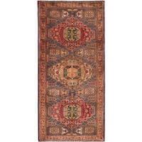 eCarpetGallery Ardabil Blue/Red Wool Hand-knotted Rug - 4'11 x 10'7
