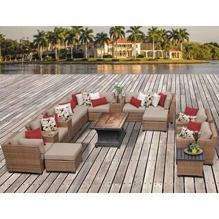 Laguna 17 Piece Outdoor Wicker Patio Furniture Set 17c