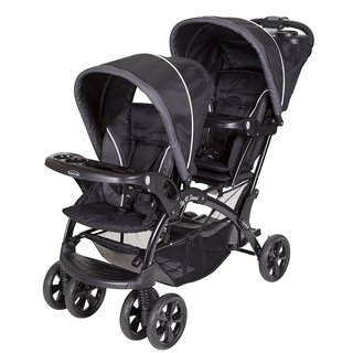 Baby Trend Sit N Stand Double Stroller, Onyx