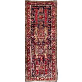eCarpetGallery Hand-knotted Persian Vintage Red Wool Rug (3'10 x 9'9)