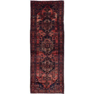 eCarpetGallery Persian Vintage Brown Wool Hand-knotted Area Rug (3'6 x 9'10)