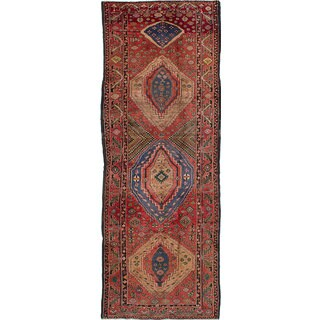 eCarpetGallery Persian Brown Wool/Cotton Hand-knotted Vintage Runner Rug (4'3 x 11'10)
