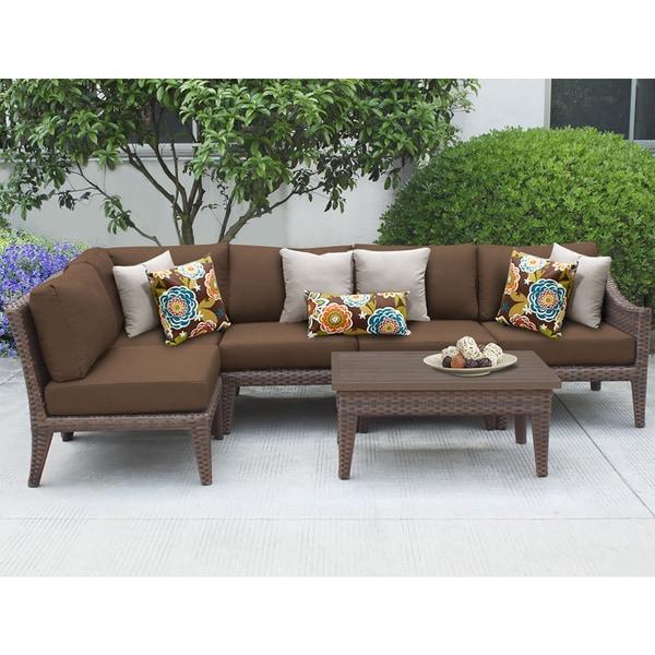 Beau Manhattan 6 Piece Outdoor Wicker Patio Furniture Set 06d