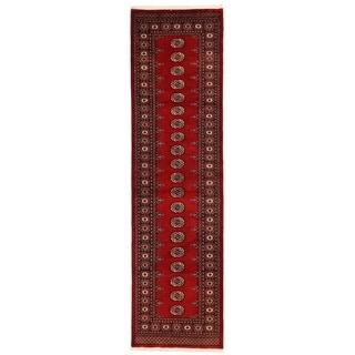 Herat Oriental Pakistani Hand-knotted Bokhara Wool Runner (2'7 x 10')