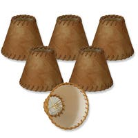 Royal Designs Brown Silk 6-inch Chandelier Lampshades (Pack of 6)