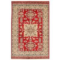 Handmade Herat Oriental Pakistani Bokhara Wool Rug - 4' x 6'2 (Pakistan)