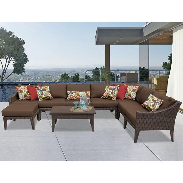 Manhattan 9 Piece Outdoor Wicker Patio Furniture Set 09b