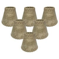 Royal Designs Light Brown 6-inch Chandelier Lampshades (Set of 6)