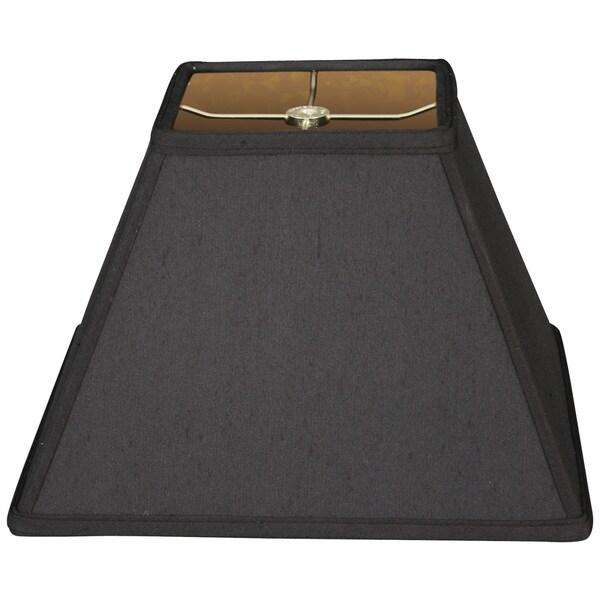 Royal Designs Sharp Square Hardback Lamp Shade, Black, 5 x 10 x 7.25