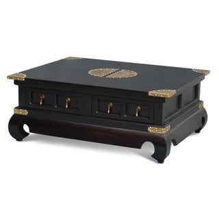 NES Fine Handcrafted Furniture Solid Mahogany Wood Ming Coffee Table - 39 inches