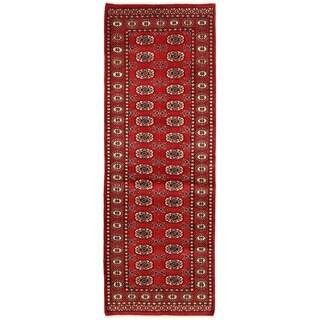 Herat Oriental Pakistani Hand-knotted Bokhara Wool Runner (2'9 x 7'11)