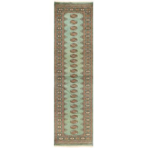 Handmade Herat Oriental Pakistani Bokhara Wool Runner - 2'6 x 9'11 (Pakistan)