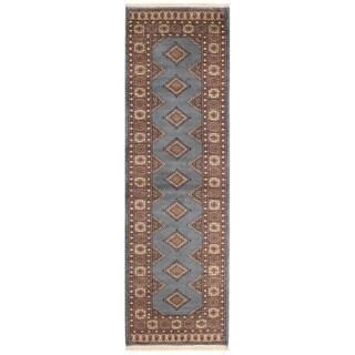 Herat Oriental Pakistani Hand-knotted Bokhara Wool Runner (2'7 x 8'9)