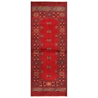 Herat Oriental Pakistani Hand-knotted Bokhara Wool Runner (2'6 x 6'8)