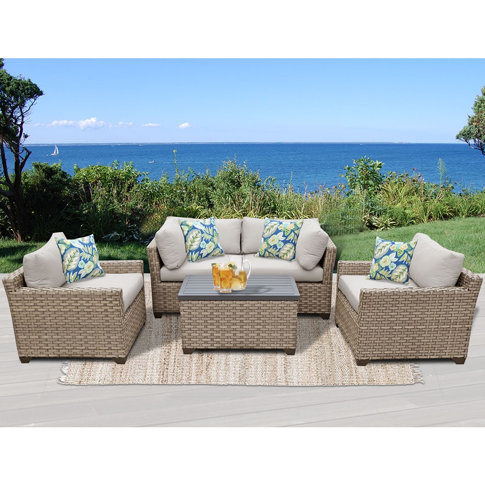 Monterey 5 Piece Outdoor Wicker Patio Furniture Set 05b 639738807966