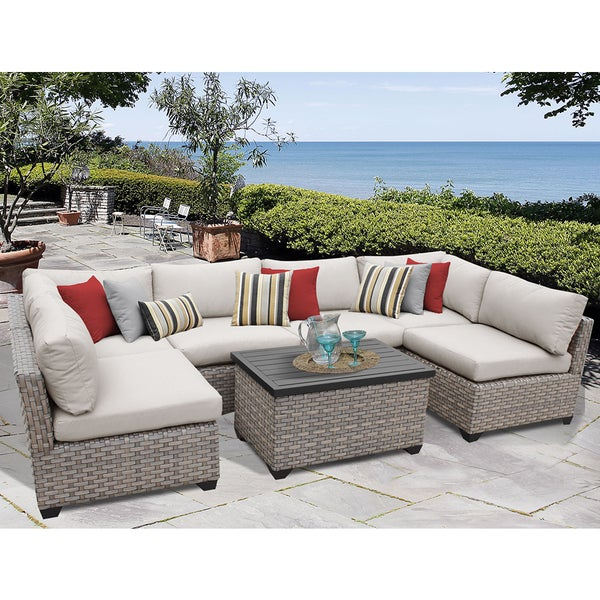 Monterey Piece Outdoor Wicker Patio Furniture Set A Free - Wicker patio furniture sets