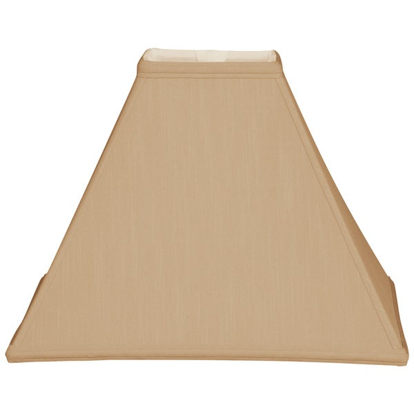 Royal Designs Square Sharp Corner Basic Lamp Shade, Antique Gold, 6 x 16 x 12.5