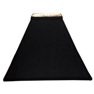 Royal Designs Square Sharp Corner Basic Lamp Shade, Black, 5 x 14 x 11.5