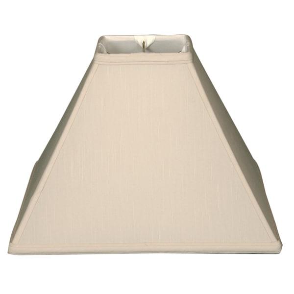 Royal Designs Square Sharp Corner Basic Lamp Shade, Beige, 5 x 14 x 11.5