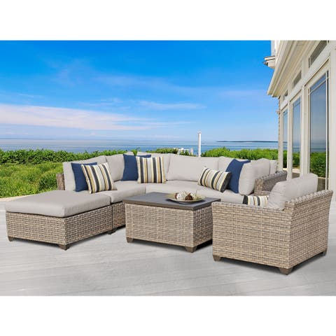 Monterey 07d 7-piece Outdoor Wicker Patio Furniture Set