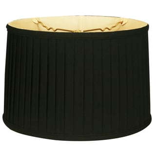 Royal Designs Shallow Drum Side Pleat Basic Lamp Shade, Black, 9 x 10 x 7