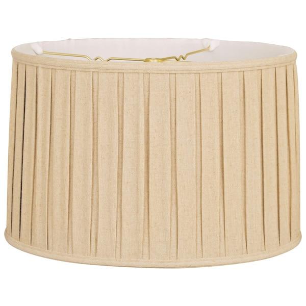 Shop royal designs shallow drum english box pleat basic lamp shade royal designs shallow drum english box pleat basic lamp shade linen beige 15 x aloadofball Choice Image