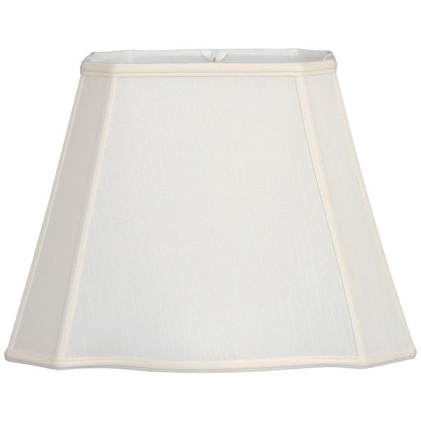 Royal Designs Fancy Bottom Rectangle Basic Lamp Shade, White, 7 x 9 x 10.25 x 16 x 12.25