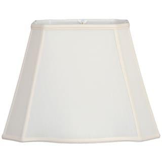 Royal Designs Fancy Bottom Rectangle Basic Lamp Shade, White, 6 x 8 x 9 x 14 x 10.625