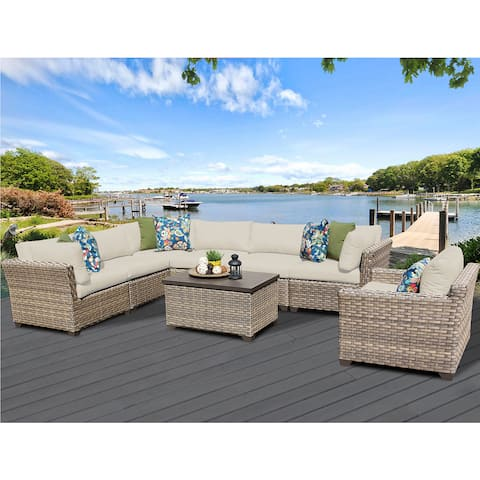 Monterey 8 Piece Outdoor Wicker Patio Furniture Set 08b
