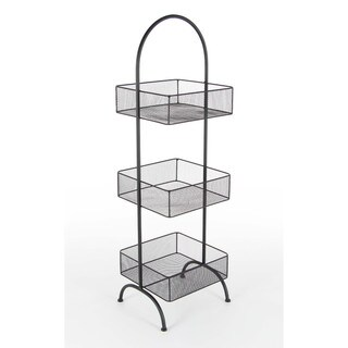 Three Tier Black Tray Rack Stand13W, 42H