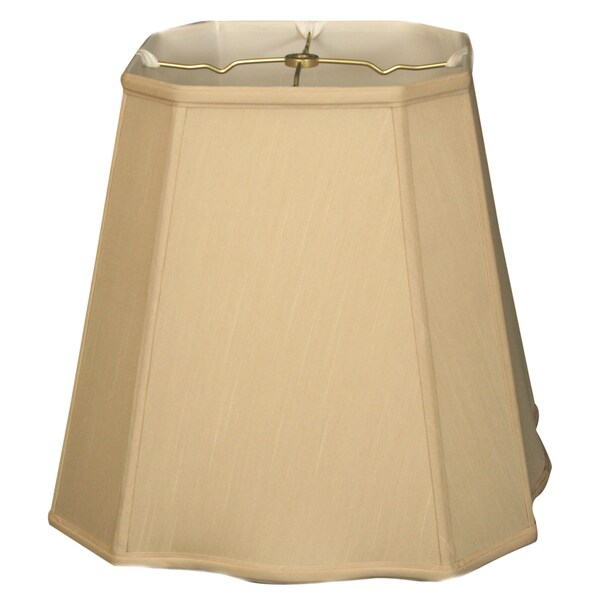 Royal Designs Fancy Square Cut Corner Basic Lamp Shade, Beige, 11 x 17 x 15