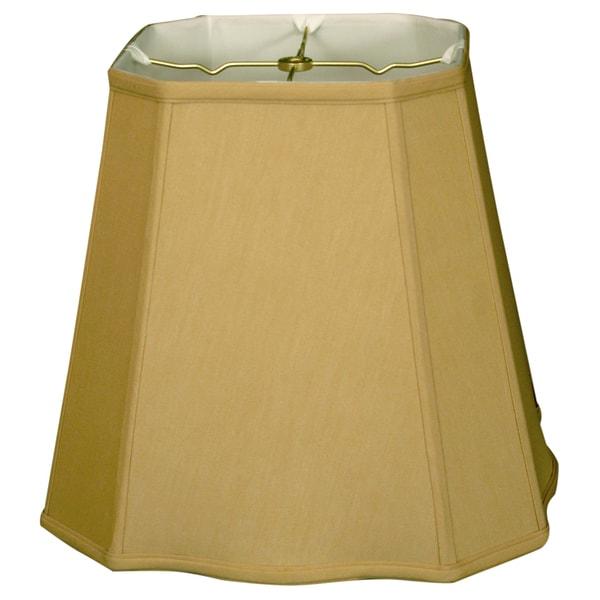 Royal Designs Fancy Square Cut Corner Basic Lamp Shade, Antique Gold, 11 x 17 x 15