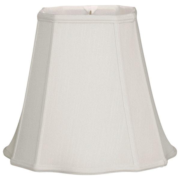 Royal Designs Fancy Square Cut Corner Basic Lamp Shade, White, 9.5 x 15 x 13