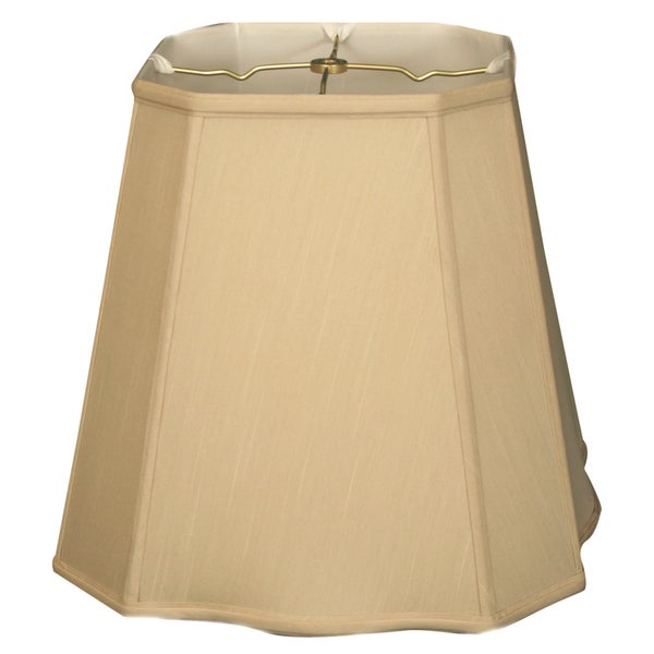 Royal Designs Beige Fancy Square-cut Corner Basic Lampshade