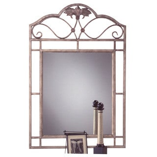 Hillsdale Furniture Bordeaux Console Mirror in Pewter Powder Coat Finish