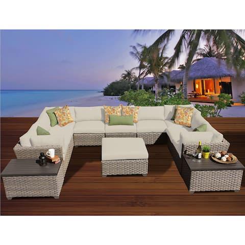 Monterey 12 Piece Outdoor Wicker Patio Furniture Set 12a