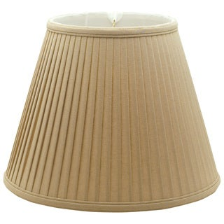 Royal Designs Deep Empire Side Pleat Basic Lamp Shade, Linen / Taupe 10 x 20 x 15