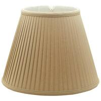 Royal Designs Deep Empire Side Pleat Basic Lamp Shade, Linen / Taupe 9 x 16 x 12.25