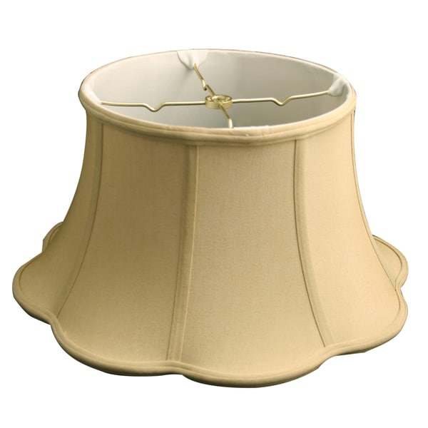 Royal Designs 6-Way Out Scallop Bell Basic Lamp Shade, Antique Gold, 11 x 17 x 10