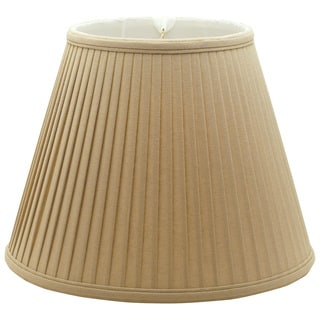 Royal Designs Deep Empire Side Pleat Basic Lamp Shade, Linen / Taupe 8 x 14 x 11