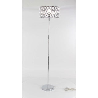 Benzara Designer Crystal Metal Glass Floor Lamp