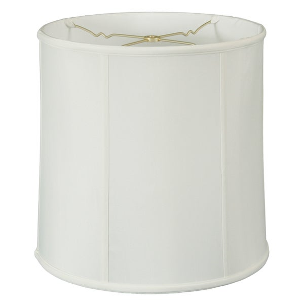 Royal Designs Basic Drum Lamp Shade, White, 13 x 14 x 14, BS-719-14WH