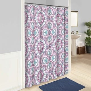 purple and teal shower curtain. Vue Aura Shower Curtain Purple Curtains For Less  Overstock com Vibrant Fabric