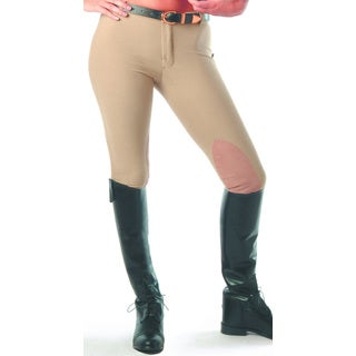 Devon-Aire Classic Cotton Beige Hipster Riding Breech
