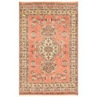 Herat Oriental Pakistani Hand-knotted Bokhara Wool Rug (3'11 x 6'2)