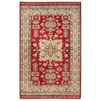 Herat Oriental Pakistani Hand-knotted Bokhara Wool Rug (4' x 6'4)