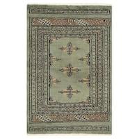 Herat Oriental Pakistani Hand-knotted Bokhara Wool Rug (2'1 x 3'3)