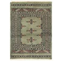 Handmade Herat Oriental Pakistani Bokhara Wool Rug (Pakistan) - 2' x 2'9